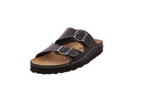 Longo Herren Fußbettpantolette aus Glattleder in