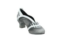 Simen Damen 2515A-656 Grau Weiße Glattleder Pumps