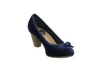 S.Oliver Damen 22470-805 Blauer Textil Pumps