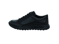 Ecco Damen Flexure Runner W Schwarzer Glatt-/Veloursleder Sneaker