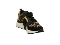 La Strada Damen 1807433/6091 Schwarz/Goldene Textil Sneaker