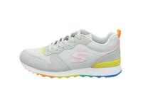 Skechers Damen 155353GYMT Grauer Leder/Textil Sneaker