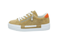 Rieker Damen N4948-60 Beige Synthetik Sneaker