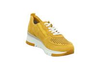 Tamaris Damen 23745-656 Gelbe Nubukleder Sneaker
