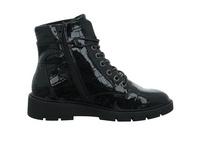 S.Oliver Damen 25240-055 Schwarzer Lack Boot