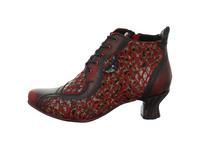 Simen Damen 3182A-WEINROT Roter Glatt-/Veloursleder Ankle Boot