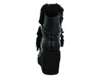 Tizian Damen New York 03 Schwarz Leder/Textil Stiefelette