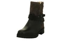 Tommy Hilfiger Damen Warm Created Schwarze Glattleder Biker Boots