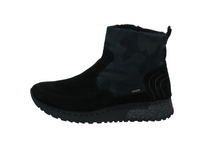 Romika Damen Houston 01 Schwarze Veloursleder Winterboots