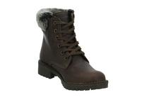 Mustang Damen 2837605-32 Braune Leder/Textil Winterboots
