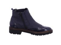 Jenny Damen Portland-Stf Blaue Leder/Lack Winterboots