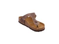 Birkenstock Gizeh 943811 Braune Glattleder Pantolette
