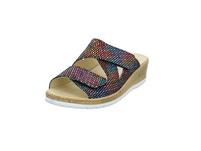 Longo Damen 1072017 Multicolorfarbene Veloursleder Pantolette