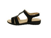 Caprice Damen 28605-004 Schwarze Nubukleder Sandale