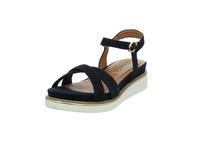 Tamaris Damen 28225-913 Blaue Textil Sandalette
