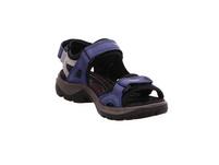 Ecco Damen Offroad 069563/57807 Blaue Nubukleder Sandale