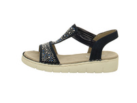 Jenny Damen Korsika-SP Blaue Synthetik/Textil Sandale