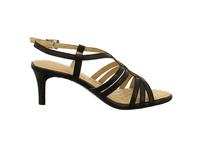Caprice Damen 28318-022 Schwarze Glattleder Sandalette