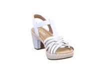 Gabor comfort Damen 82-736-51 Weiß-Silberne Leder Sandalette