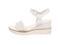 Tamaris Damen 28057-117 Weiße Textil Sandalette