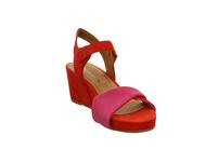 Tamaris Damen 28348-571 Rote Veloursleder Sandalette