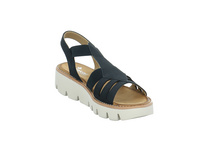 Rieker Damen V7371-14 Blaue Synthetik Sandalette