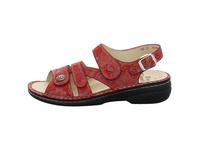 Finn Comfort Damen Gomera Rote Glattleder Sandale
