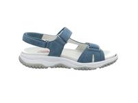 Gabor comfort Damen Rollingsoft Blaue Veloursleder Sandale