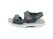 Gabor comfort Damen Rollingsoft Blaue Leder/Textil Sandalette