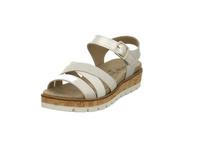 Longo Damen 1045369 Silberfarben Kombinierte Leder Sandalette