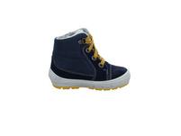 Superfit Kinder 1-009306-8000 Blauer Leder/Textil Winterstiefel