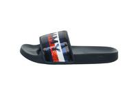 Tommy Hilfiger Damen Tommy Sequins Pool Slide Blaue Synthetik/Textil Badeschuhe