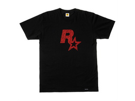 Rockstar - T-Shirt Logo schwarz (Größe S)