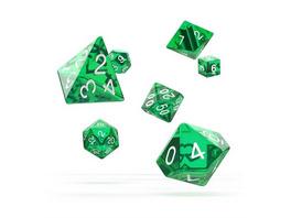 Würfel RPG-Set Translucent - Grün
