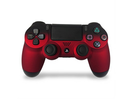 PS4 Dualshock Rebuilt Controller Black Red (Softtouch)