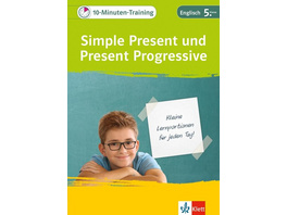Klett 10-Minuten-Training Simple Present und Present Progressive