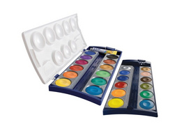 Pelikan Deckfarbkasten K24 mit 24 Farben und 1 Tube Deckweiß