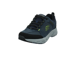 Skechers Herre Oak Canyon Blauer Materialkombinierter Sneaker