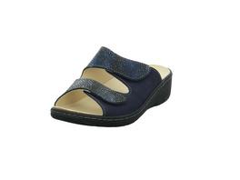Longo Damen 1044742 Blaue Leder Pantolette