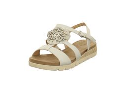 Caprice Damen 28105-128 Weiße Glattleder Sandale