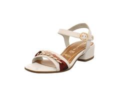Tamaris Damenn 28206-100 Weiße Glattleder Sandalette