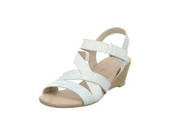 Caprice Damen 28214-197 Weiß Kombinierte Glattleder Sandalette